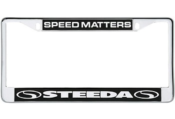 Steeda Chrome License Plate Tag Frame