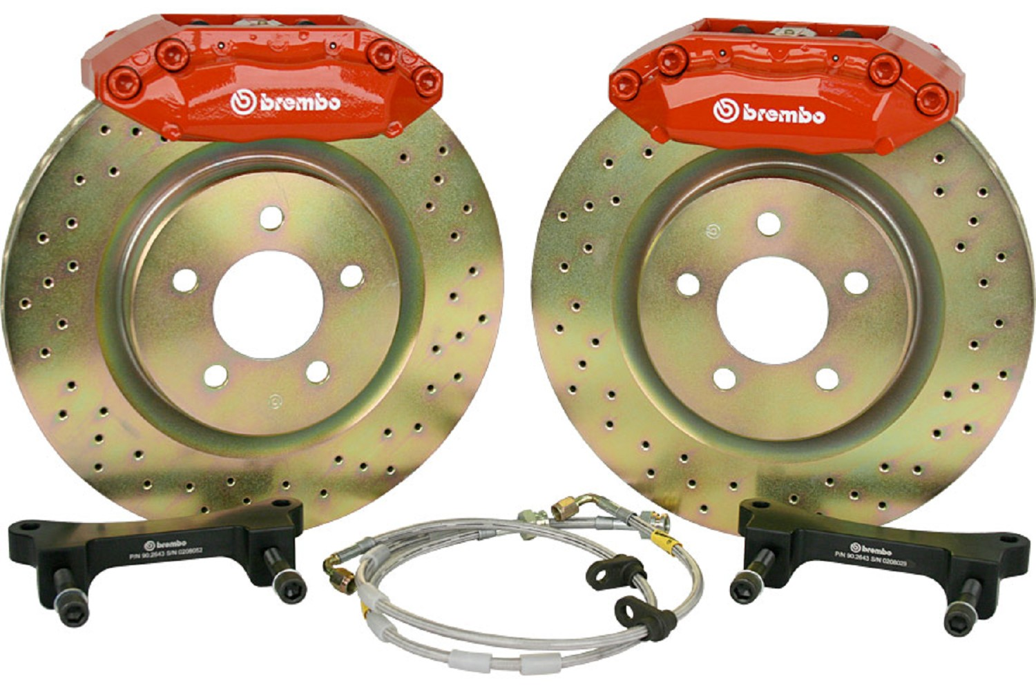 "Brembo Ford Fusion 13"" Front Brake 4 Piston Kit - Red (06-12"