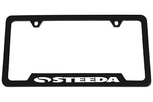 Steeda Black License Plate Tag Frame
