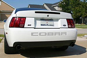 Steeda Mustang Rear Bumper Insert Decal - Silver (03-04 Cobra)