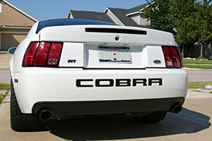 Steeda Mustang Rear Bumper Insert Decal - Black (2001 Cobra)