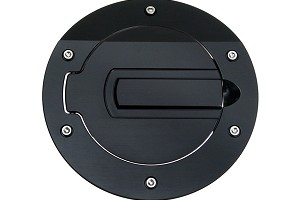 SilverHorse Mustang Billet Fuel Door - Black/No Logo (05-09 All)