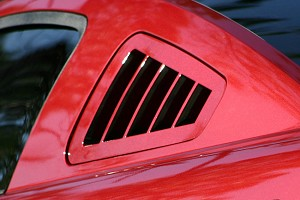 Silverhorse Mustang Flush Mount Window Louvers - Unpainted (05-14) - DISCONTINUED