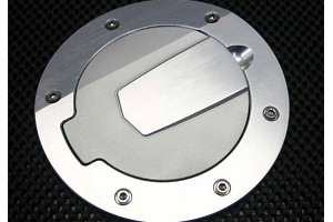 Silverhorse Mustang Billet Fuel Filler Door - Satin/No Logo (10-14 All)