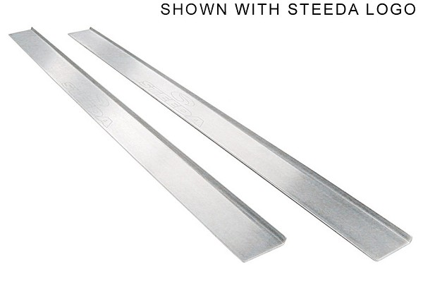 Steeda Aluminum Mustang Door Sill Plates - Ford Logo (94-04) DISCONTINUED