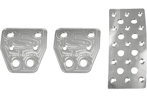 Steeda Aluminum Mustang Pedal Covers - Manual (05-14)