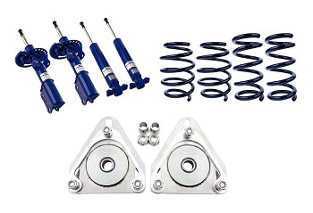 Steeda S550 Linear Lowering Springs, Camber Plate and Adjustable Shocks and Strut Combo Kit (2015-2019)