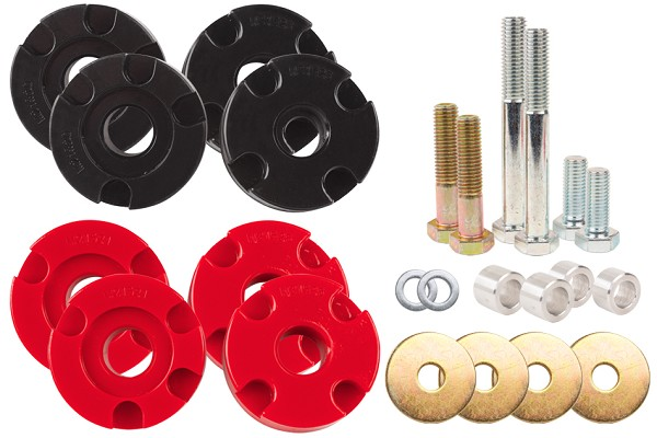 Steeda S550 Mustang Adjustable Differential Bushing Insert System - Urethane (2015-2019 EcoBoost)