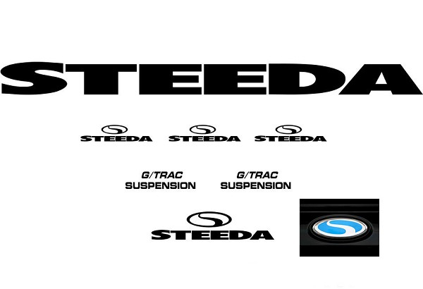 Steeda G/Trac Graphics Package - Black (1979-2019)