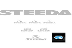 Steeda G/Tra Graphics Package - Silver