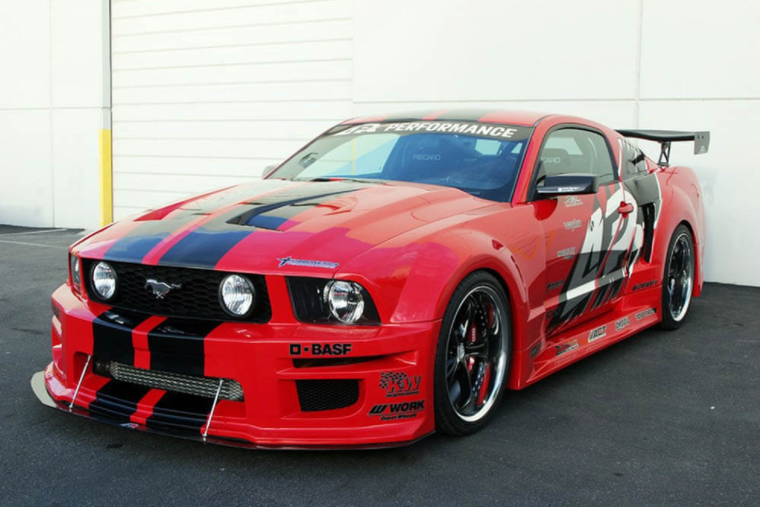 Apr performance mustang gt r widebody aerodynamic kit 05 09