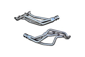 BBK Silver Ceramic Coyote 5.0L Swap Long Tube Mustang Headers 1-3/4 in (79-04)