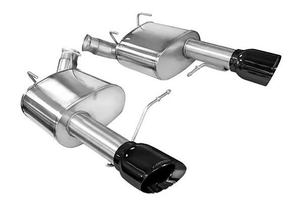 "Corsa Mustang 3"" Sport Axle-Back Exhaust Dual Rear Exit 4"" Black Pro-Series Tips (11-14 GT/Boss)"