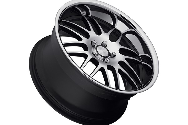 Concept One Wheels RS-8 Matte Black Machined Executive Edition Wheel - 19x9.5 (05-10) DDISCONTINUED