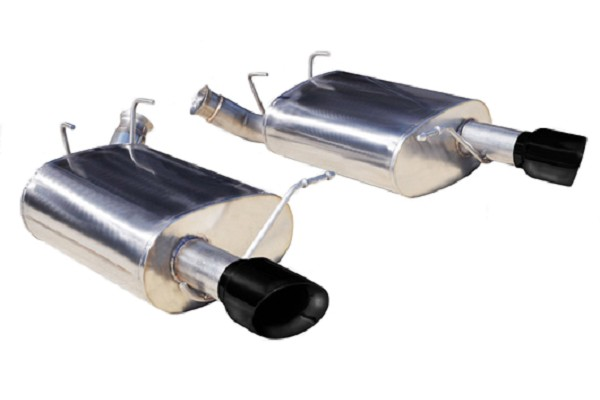 "Corsa Mustang 2.5"" Sport Axle-back Exhaust Dual Rear Exit w/ Single 3.5"" Black Pro-Series Tips (11-14 V6)"