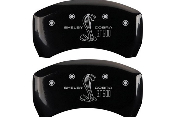 MGP Mustang Caliper Covers - Glossy Black w/ GT500 Logo - Rear Only (2007-2014)