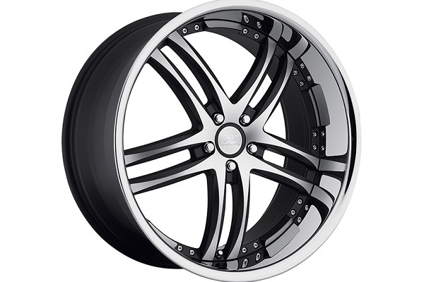 Concept One Wheels RS-55 Matte Black Machined Executive Edition Wheel - 20x8.5 (94-04)