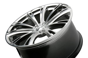 Ace Alloy Aspire Black Chrome Machined Wheel 19x9.5 (05-16)