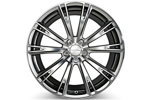 Ace Alloy Aspire Hypersilver Machined Wheel 20x8.5 (05-16)