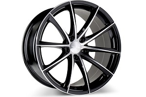 Ace Alloy Convex Gloss Black Machined Wheel 18x7.5 (05-16)