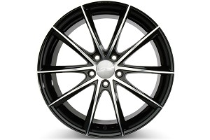 Ace Alloy Convex Gloss Black Machined Wheel 19x8.5 (05-16)