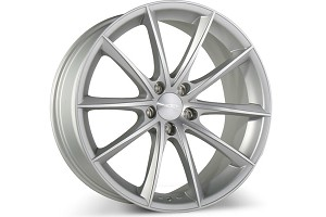 Ace Alloy Convex Hypersilver Machined Wheel 19x10 (05-15)
