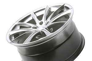Ace Alloy Convex Hypersilver Machined Wheel 19x10 (05-16)