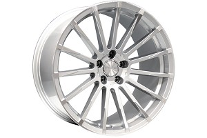 Ace Alloy Devotion Metallic Silver Machined Wheel 20x9 (05-15)