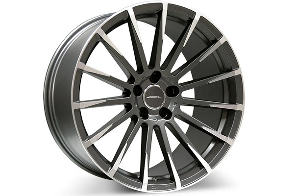 Ace Alloy Devotion Mica Grey Machined Wheel 19x8.5 (05-19)