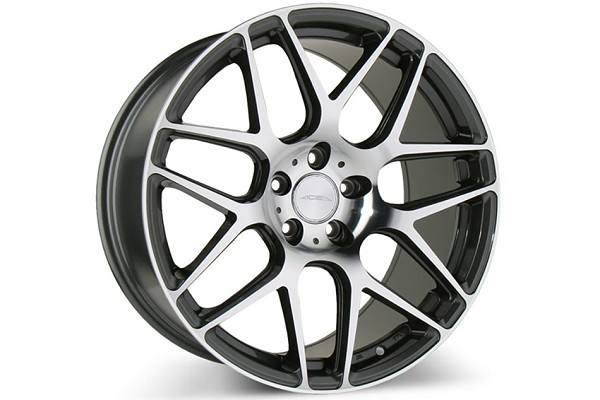 Ace Alloy Mesh-7 Mica Grey Machined Wheel 20x8.5 (2005-2021)