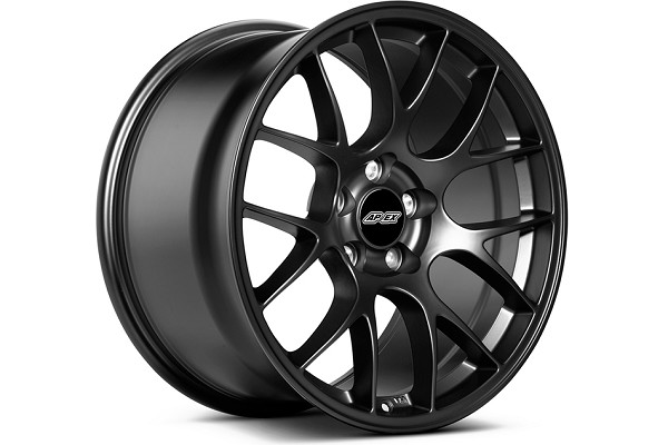 APEX EC-7 19x10 ET40 Mustang Satin Black Wheel (05-20)