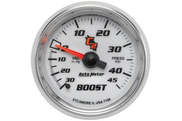 Autometer C2 Mechanical Boost/Vacuum Gauge