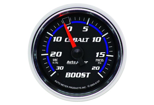 Autometer Cobalt Mechanical Boost/Vacuum Gauge