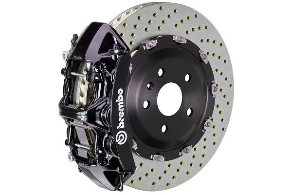 Brembo GT Drilled Mustang Front Brake Kit Black (2015-2020)