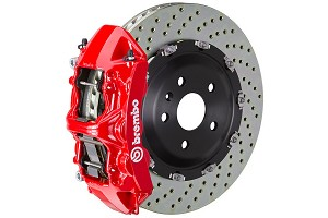 Brembo GT Drilled Mustang Front Brake Kit Red (2015-2020)