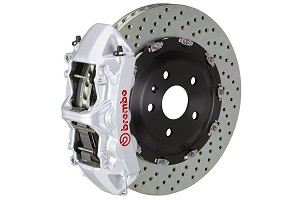 Brembo GT Drilled Mustang Front Brake Kit Silver (2015-2020)