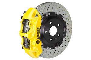 Brembo GT Drilled Mustang Front Brake Kit Yellow (15-19 GT)