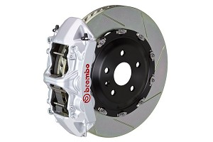 Brembo GT Slotted Mustang Front Brake Kit Silver (15-19 GT)