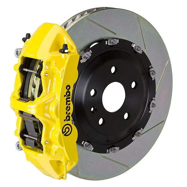 Brembo GT Slotted Mustang Front Brake Kit Yellow (15-19 GT)