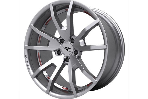 CDC Outlaw Silver Mustang Wheel 20x10 (15-20 All)