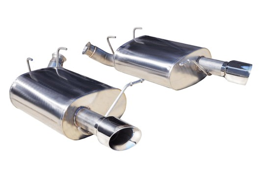 "Corsa Mustang 2.5"" Sport Axle-Back Exhaust Dual Rear Exit 3.5"" Polished Pro-Series Tips (11-14 V6)"