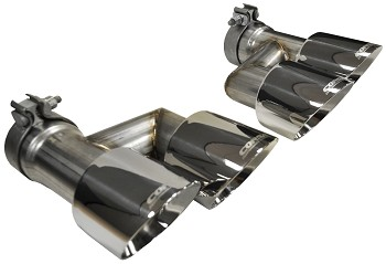 "Corsa Mustang GT 4"" Polished Quad Tip Conversion Kit (15-18 GT)"