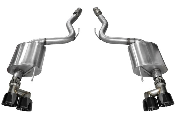 "Corsa Mustang GT Sport Axle-Back 4"" Black Polished Quad Tip Exhaust (2018-2020)"