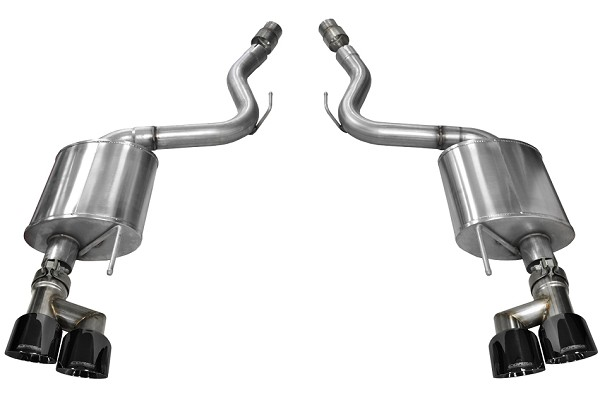 "Corsa Mustang GT Sport Axle-Back 4"" Black Polished Quad Tip Exhaust (15-18 GT)"