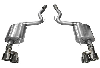 "Corsa Mustang GT Touring Axle-Back 4"" Polished Quad Tip Exhaust (15-18 GT)"