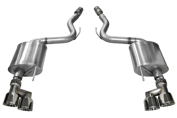 "Corsa Mustang GT Touring Axle-Back 4"" Polished Quad Tip Exhaust (2018-2020)"