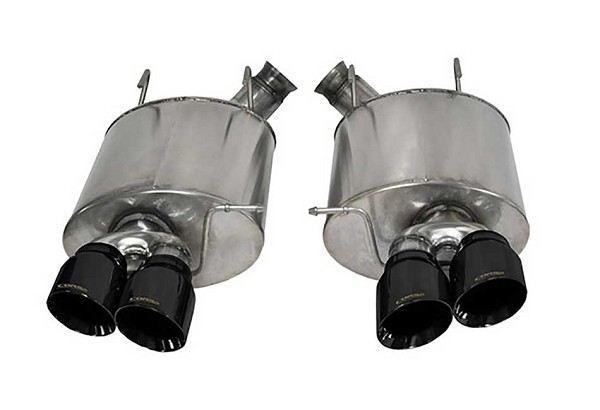 "Corsa Mustang 3"" Sport Axle-Back Exhaust Dual Rear Exit  4"" Black Pro-Series Tips (13-14 GT500)"