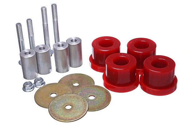 Energy Suspension S550 Mustang Differential Mount Bushing Kit Red/Black (2015-2020)