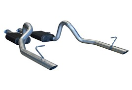 Flowmaster 17113 Mustang American Thunder Cat-Back Dual Rear Exhaust System (86-93 5.0L LX)