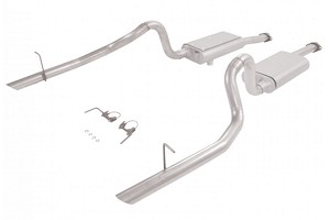 Flowmaster 17114 Mustang Force II Cat-Back Dual Rear Exit Exhaust System (94-97 GT/Cobra)
